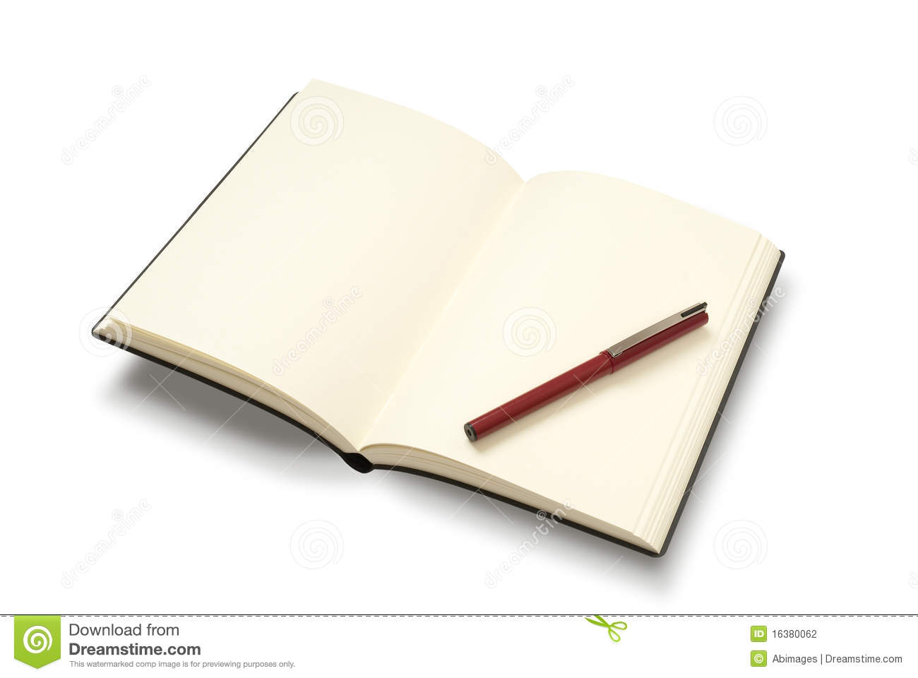 Notebook And Pen Sketch Stock Vector Art More Images Of: Open Notebook With Pen Stock Photography