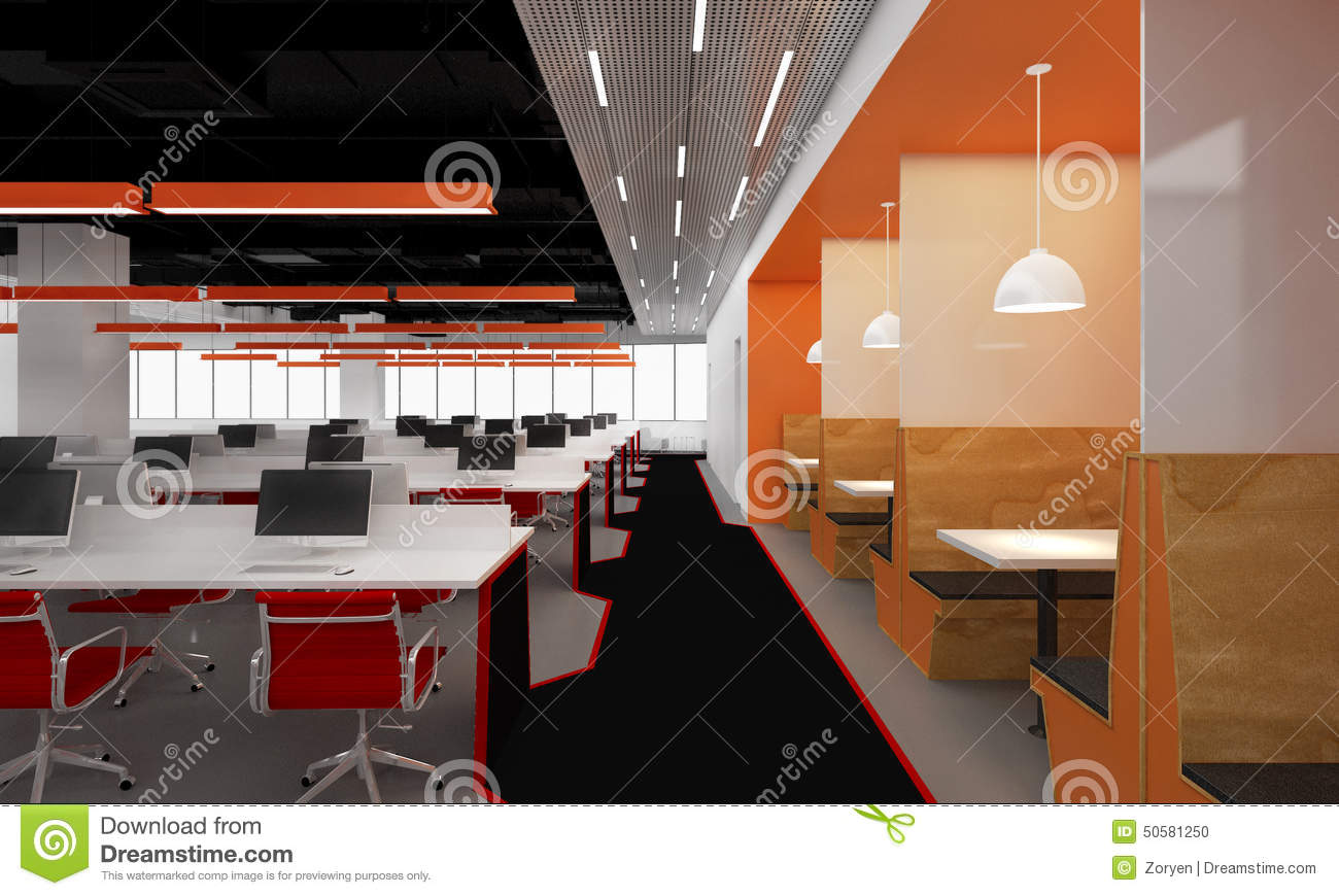 open ceiling lighting. ceiling chairs computers desks distant illuminated large lights office open lighting r