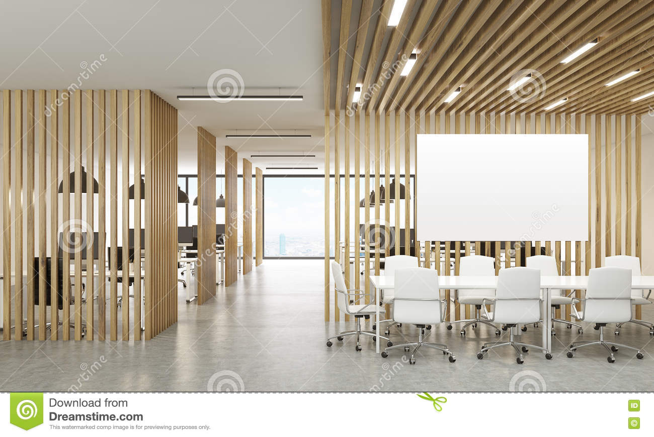 Open Office With Whiteboard Stock Illustration Image