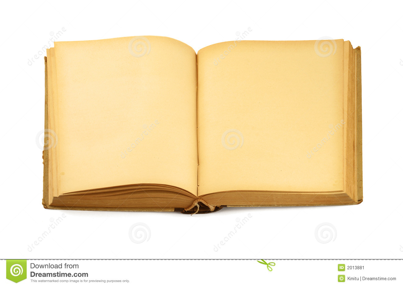 Download Open Old Blank Book On White Stock Image