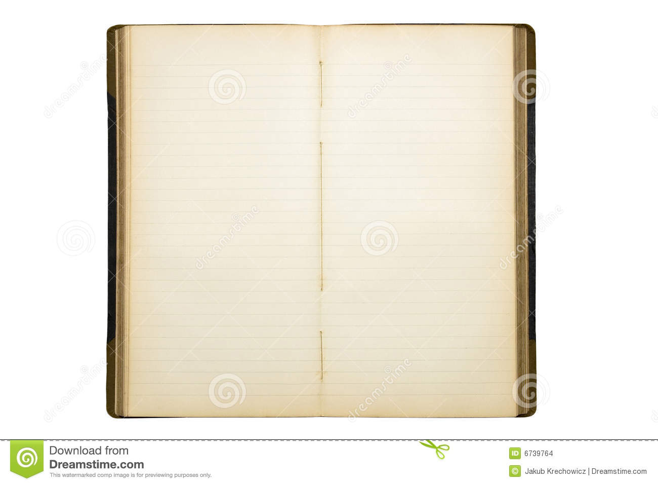 Open Old Blank Diary Stock Images Image 6739764