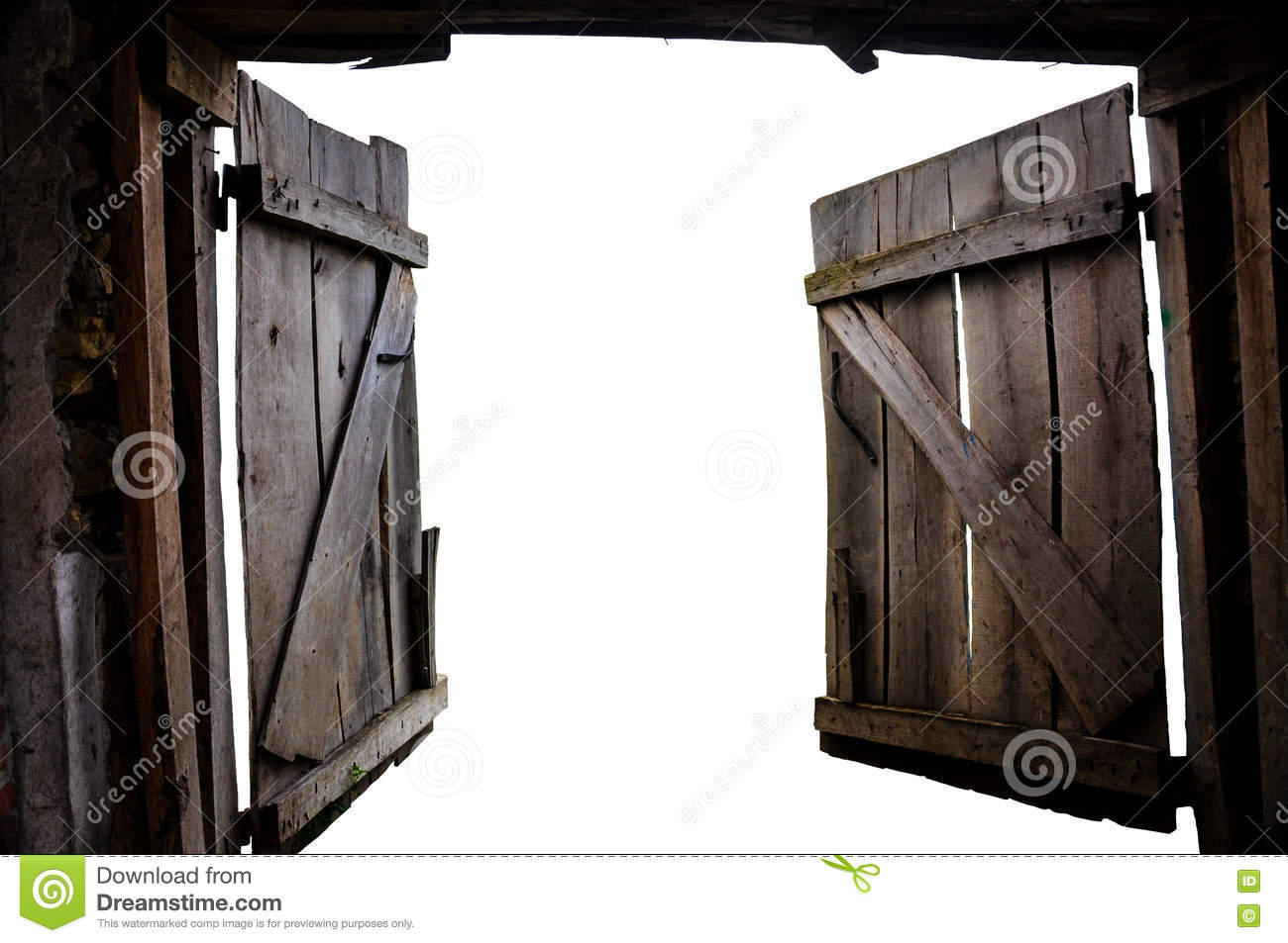 open the old gate into the unknown stock photo image of