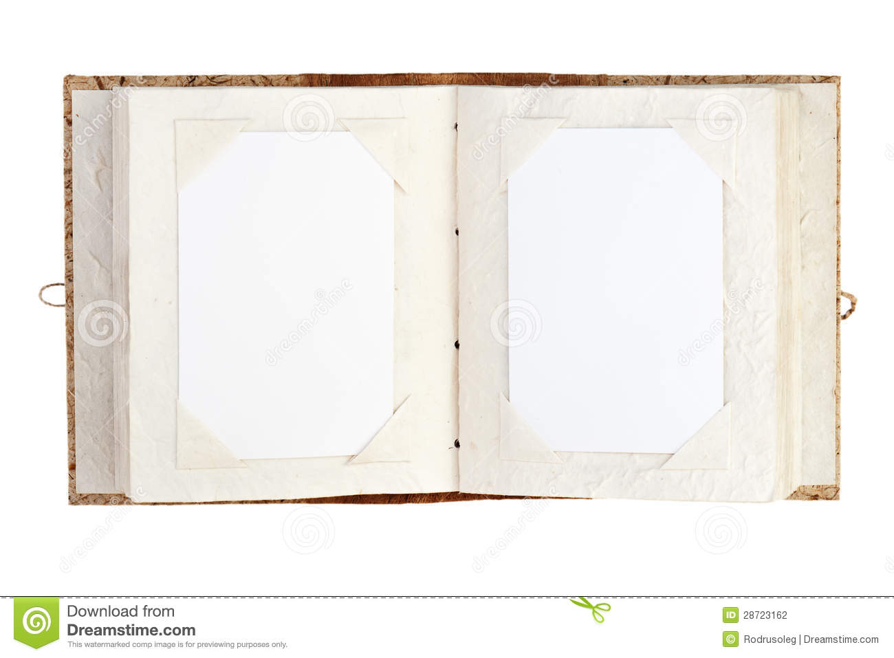Open Photho : Open Old Photo Album With Place For Your Photos Isolated On Whit Stock ...