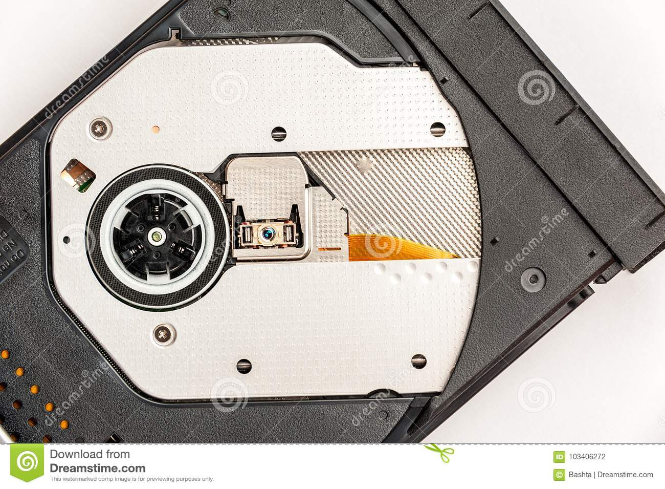 open optical cd dvd disc drive on a notebook stock photo image of