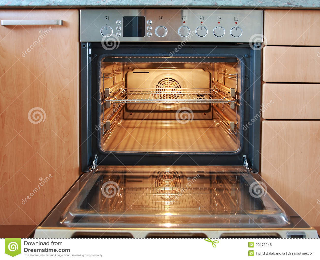 Open Oven Stock Photo Image Of Facility Stove Racks