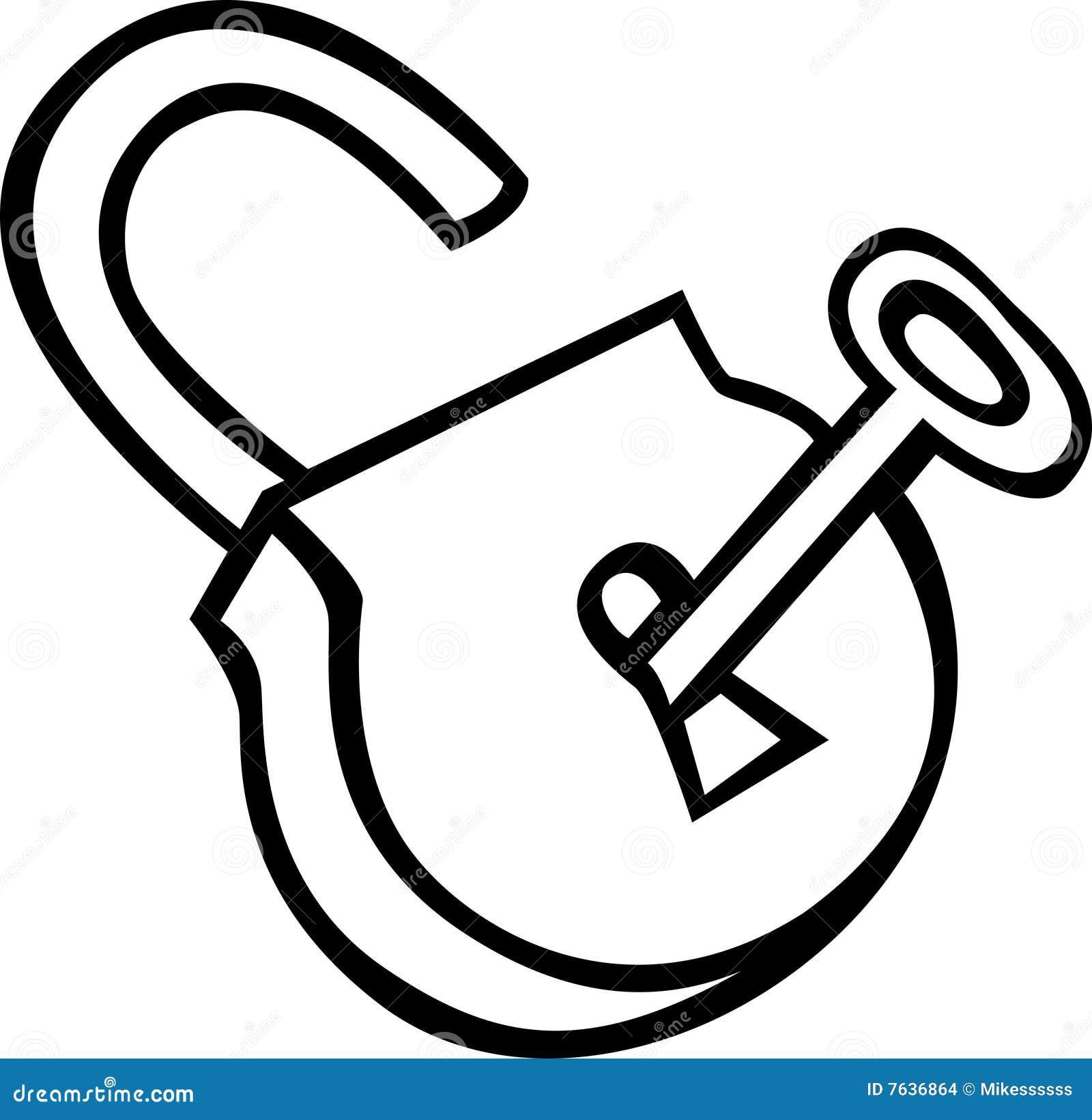 open padlock with key vector illustration stock vector