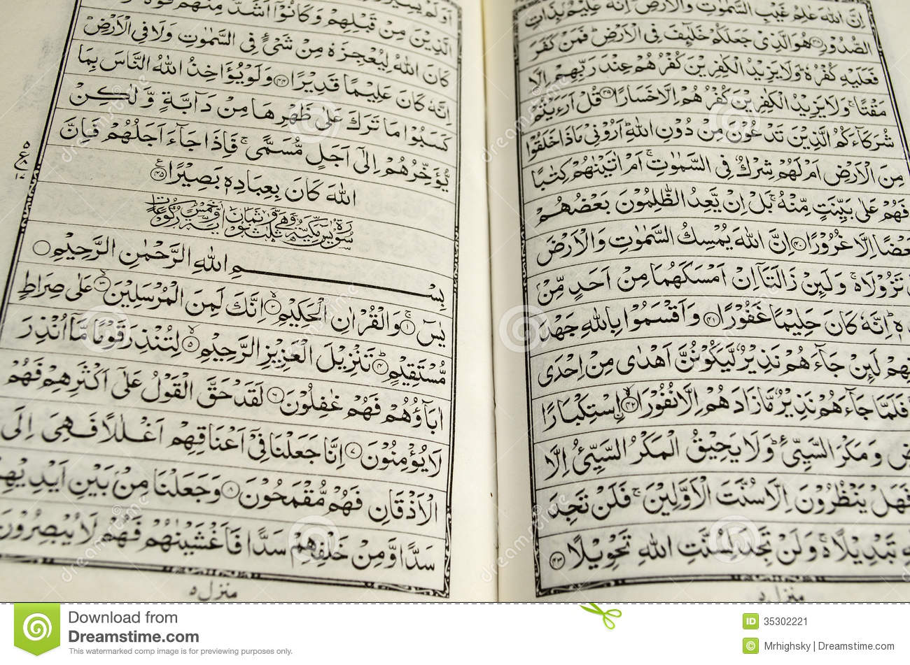 Open Pages Of Quran St...