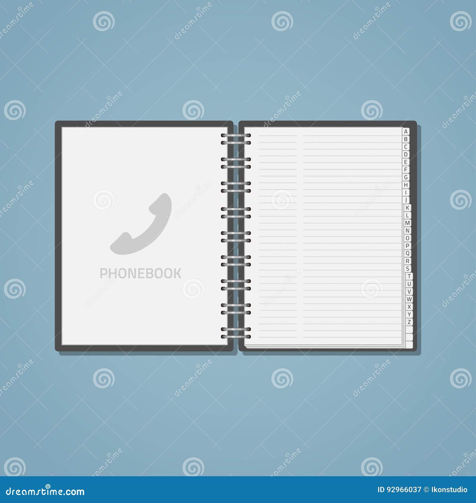 Open Phon Ebook Stock Vector Illustration Of Blank Business 92966037