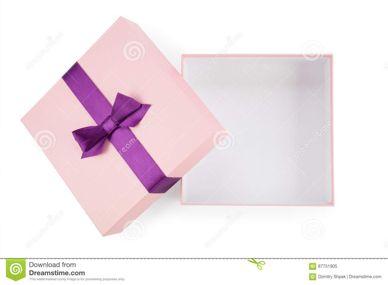Open the pink box with bow top view