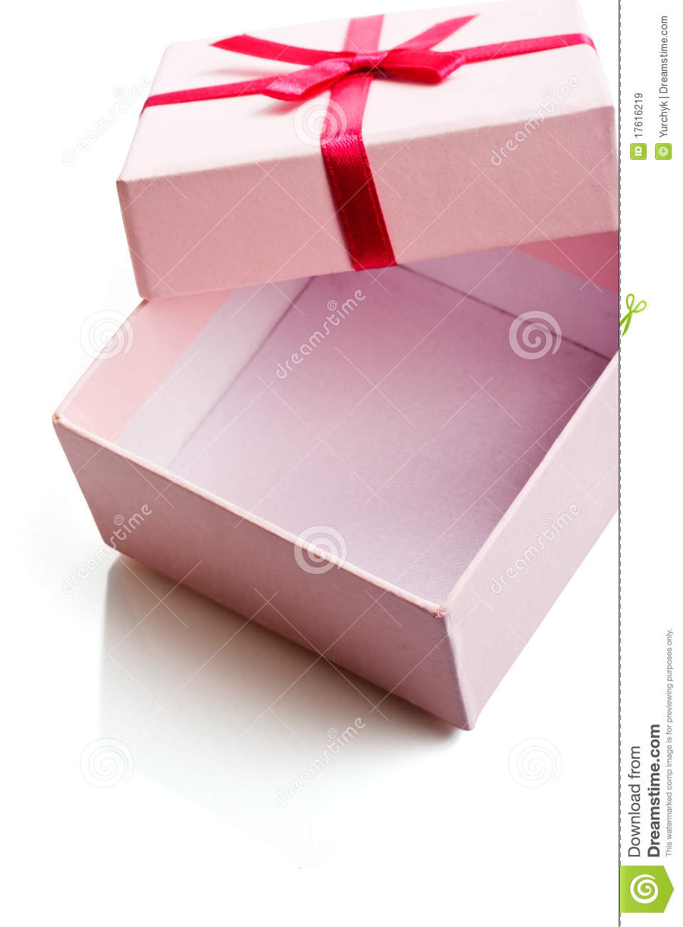 open pink gift box stock image image of greeting love 17616219. Black Bedroom Furniture Sets. Home Design Ideas