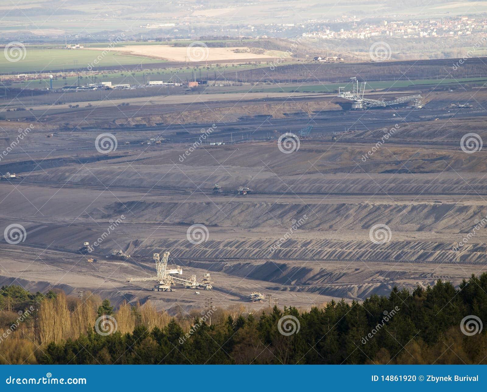 Open pit coal mining
