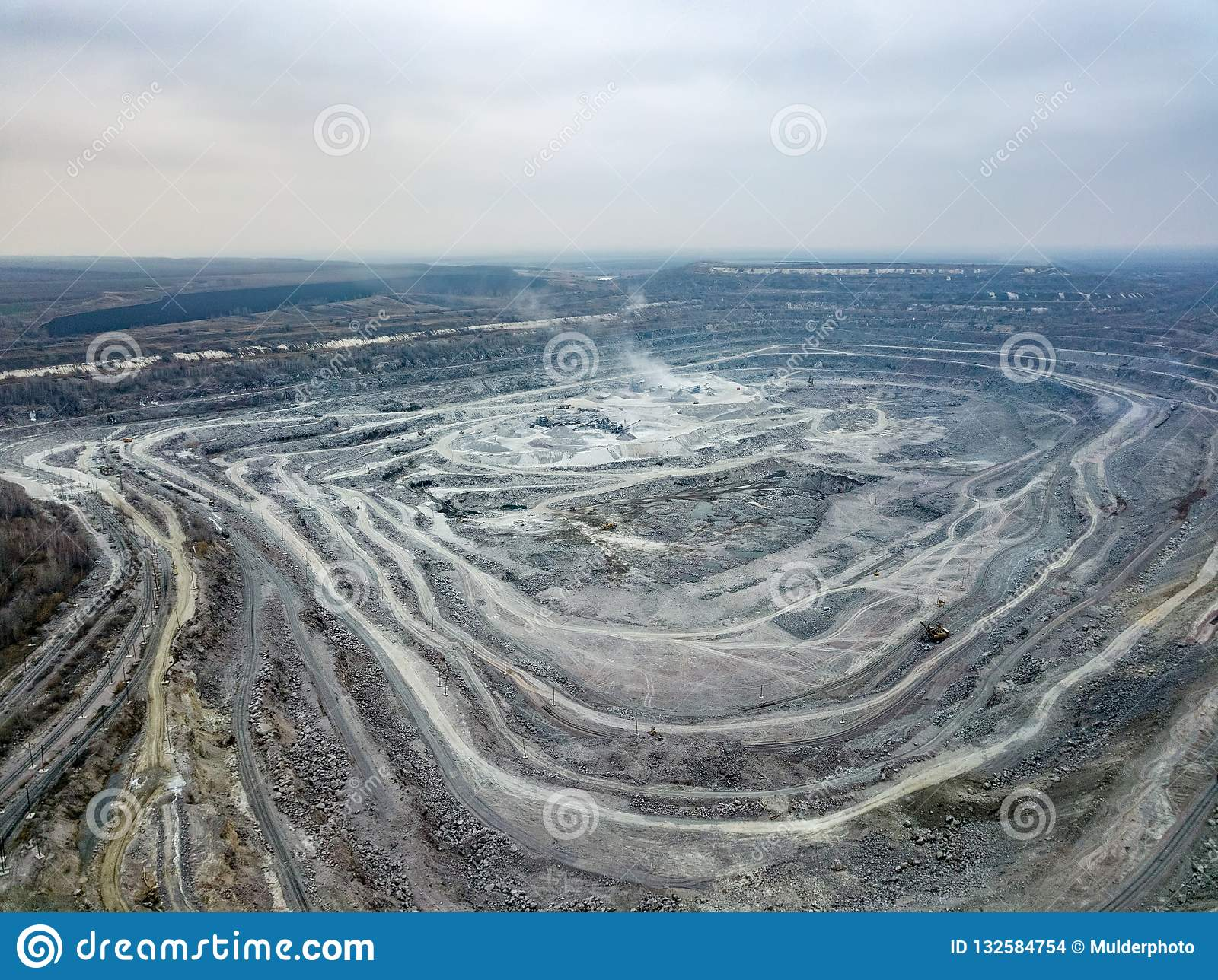 Open Pit Mine, Aerial View From Drone Stock Photo - Image of