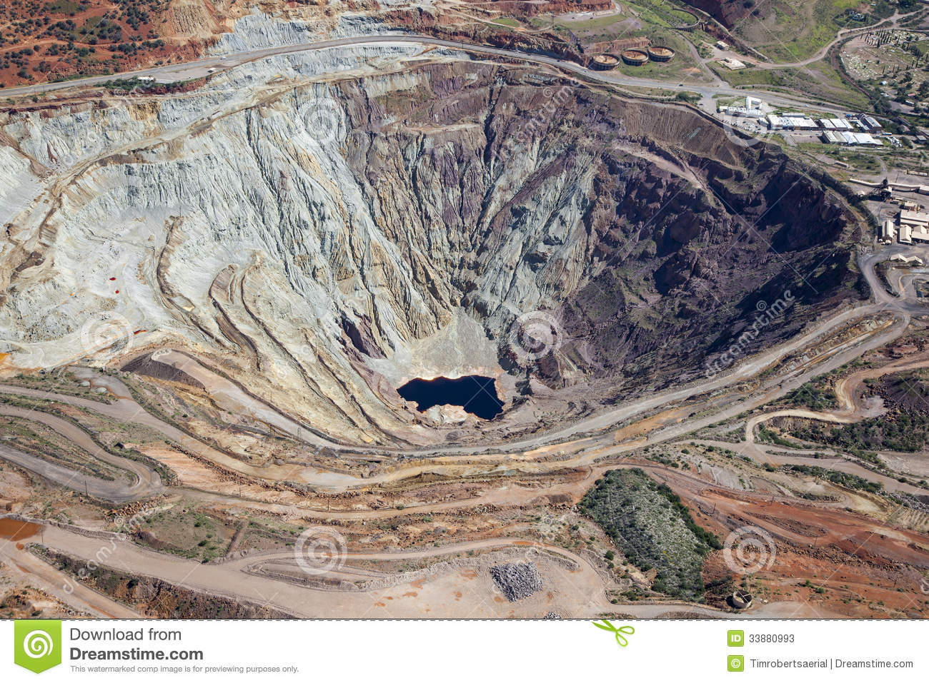 Open Pit Mine Stock Photos Image 33880993