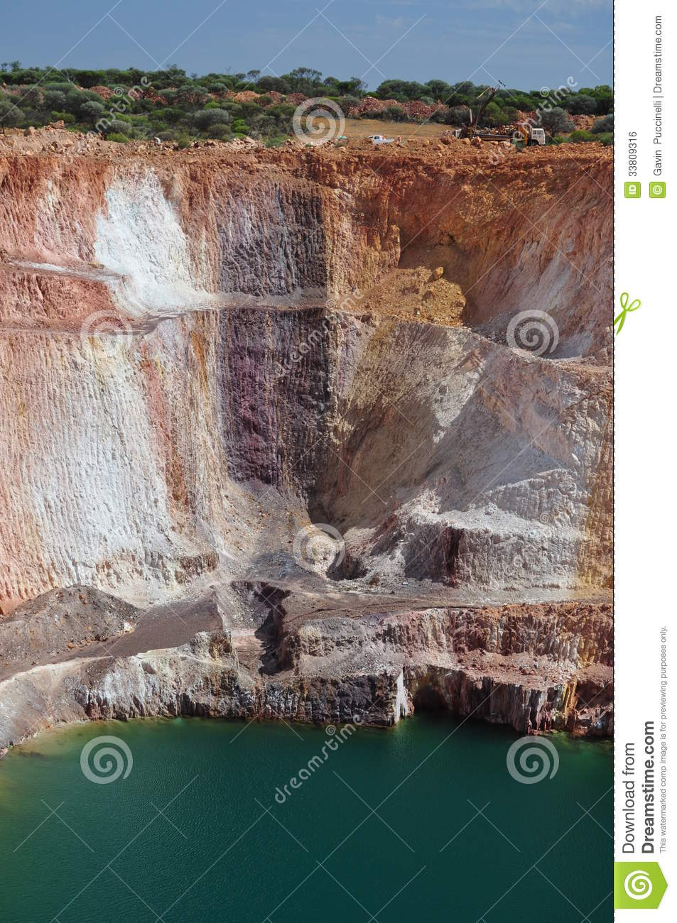 Mining Open Pit Mine Royalty Free Stock Image - Image ...