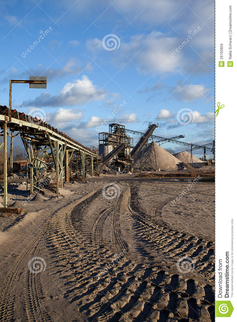 Open Pit Mining For Sand And Gravel Royalty Free Stock Images Image 26160859