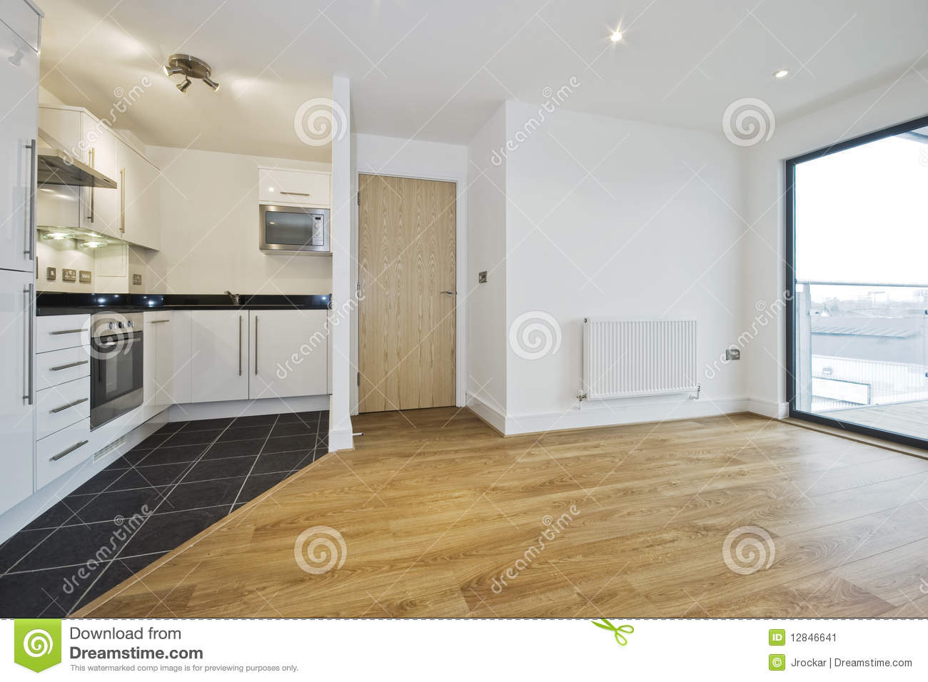 Open plan apartment
