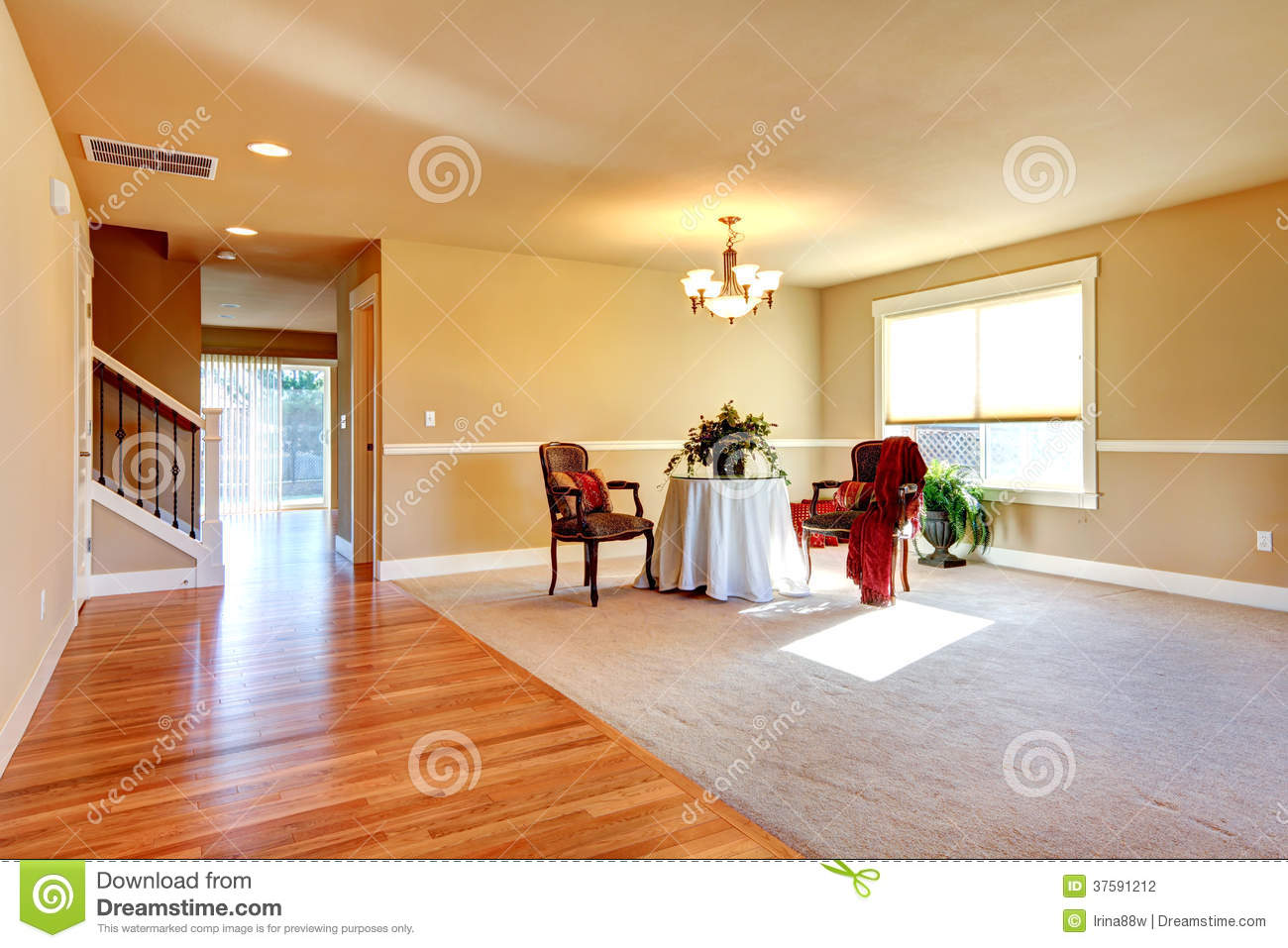 Royalty Free Stock Photo Download Open Plan Design Entrance Hallway And Living Room