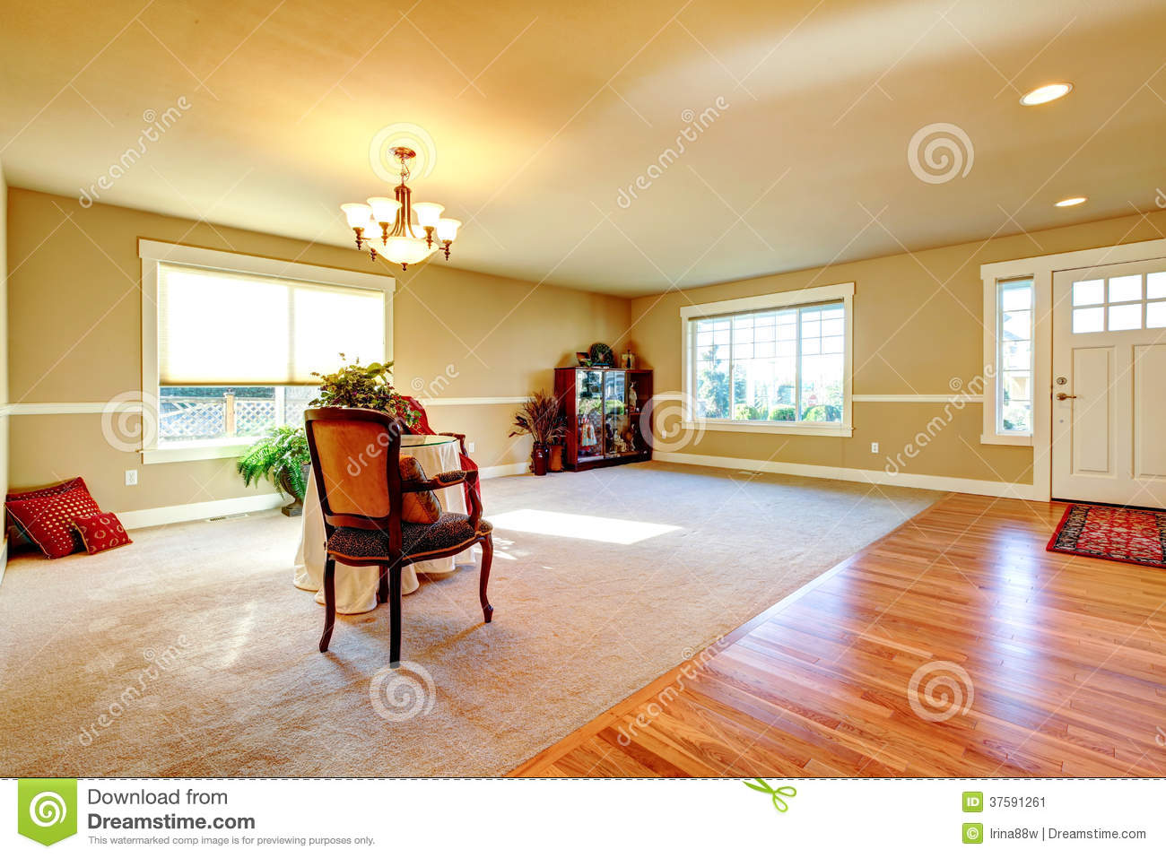 Open Plan Design Entrance Hallway And Living Room Stock Image Image 37591261