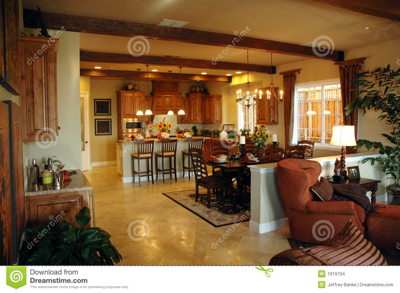 Open Plan Kitchen Area Stock Images Image 1919704