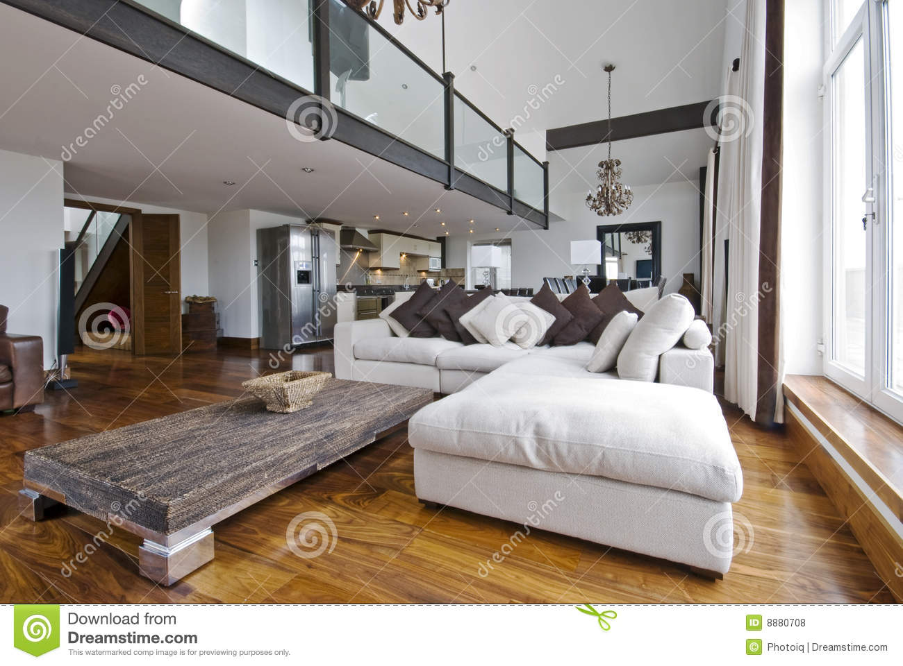 Open Plan Living Room Royalty Free Stock Photos - Image: 8880708