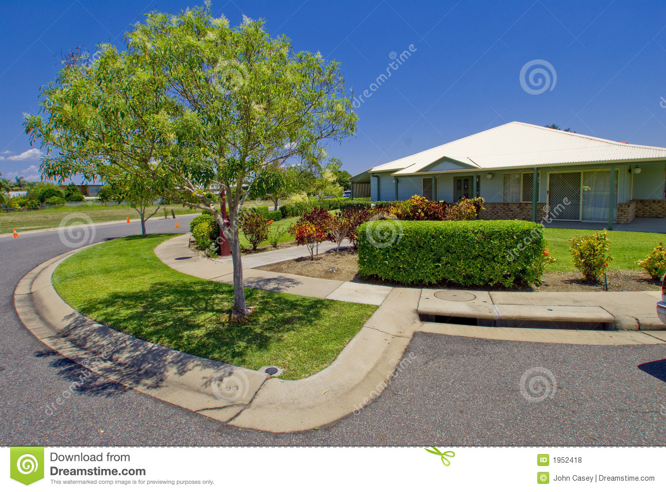 Open Plan Tropical Resort Style Home Stock Photo