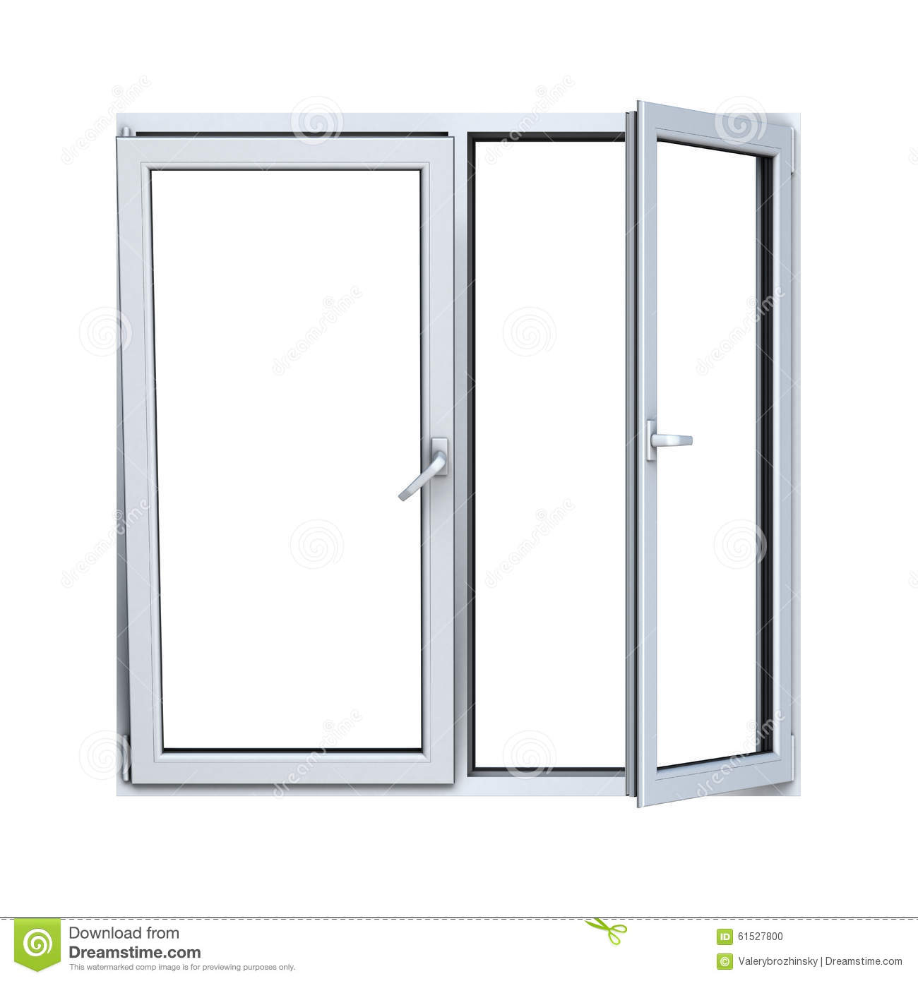 Open plastic window frame stock illustration image 61527800 for Window plastic