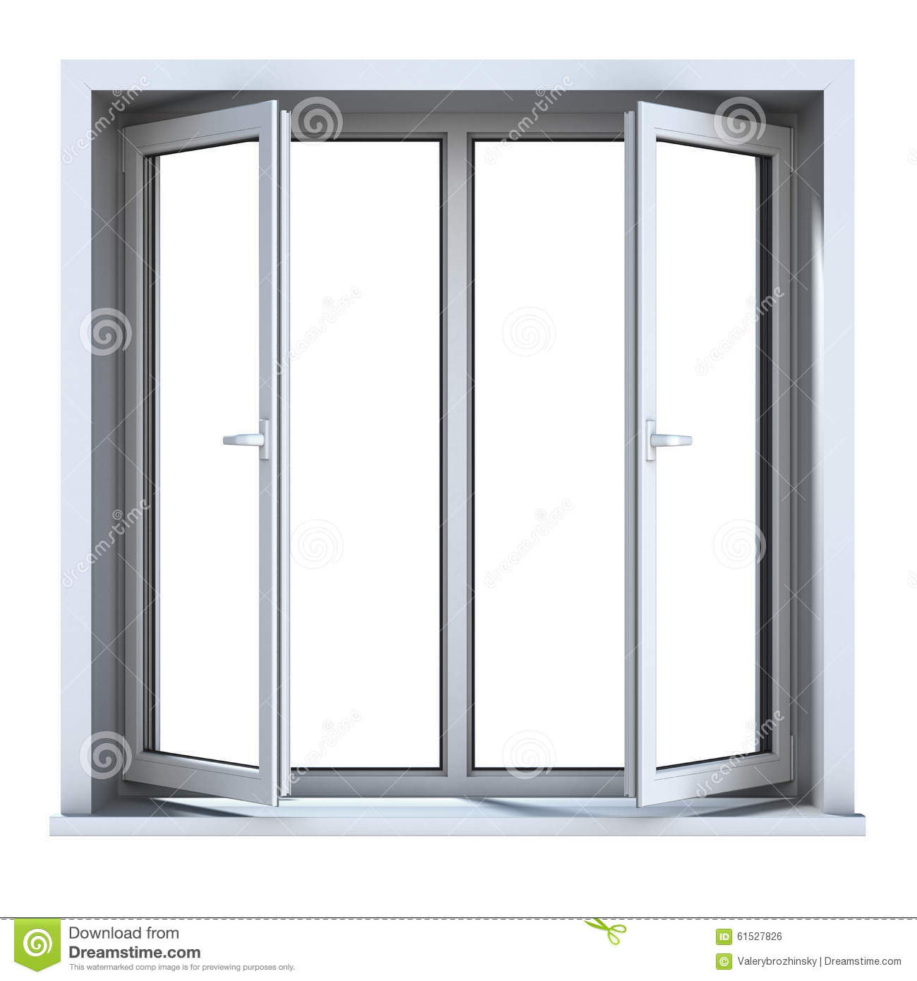 Open plastic window stock illustration image 61527826 for Window plastic