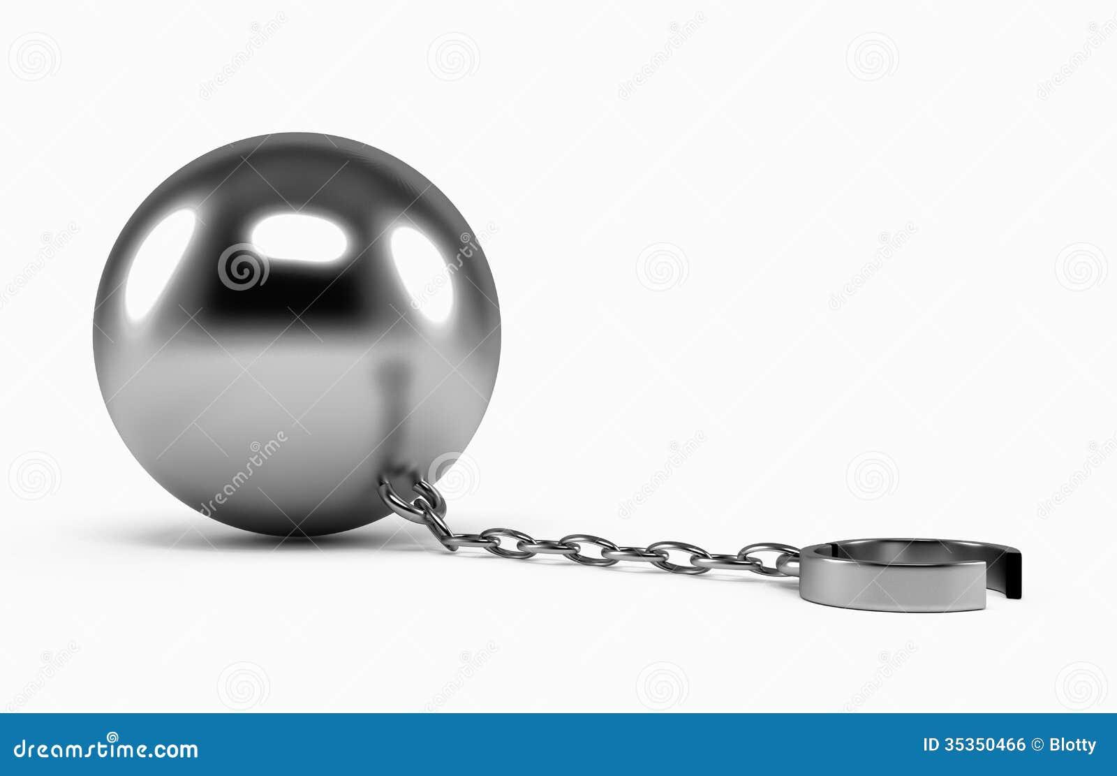 open prisoner shackle royalty free stock image