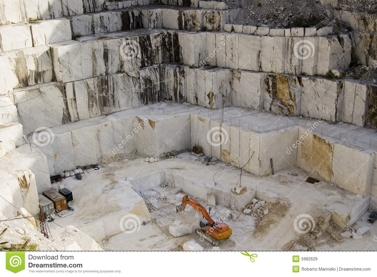 Open Quarry Of White Marble Stock Image Image Of Marbles