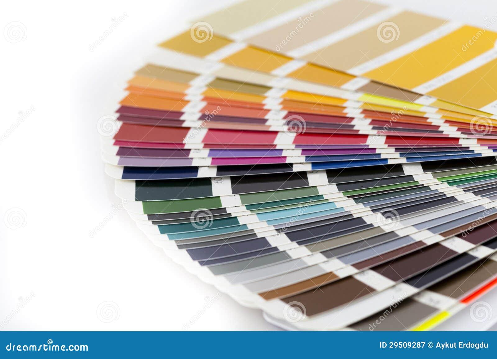Open RAL/Pantone kleurenkaart