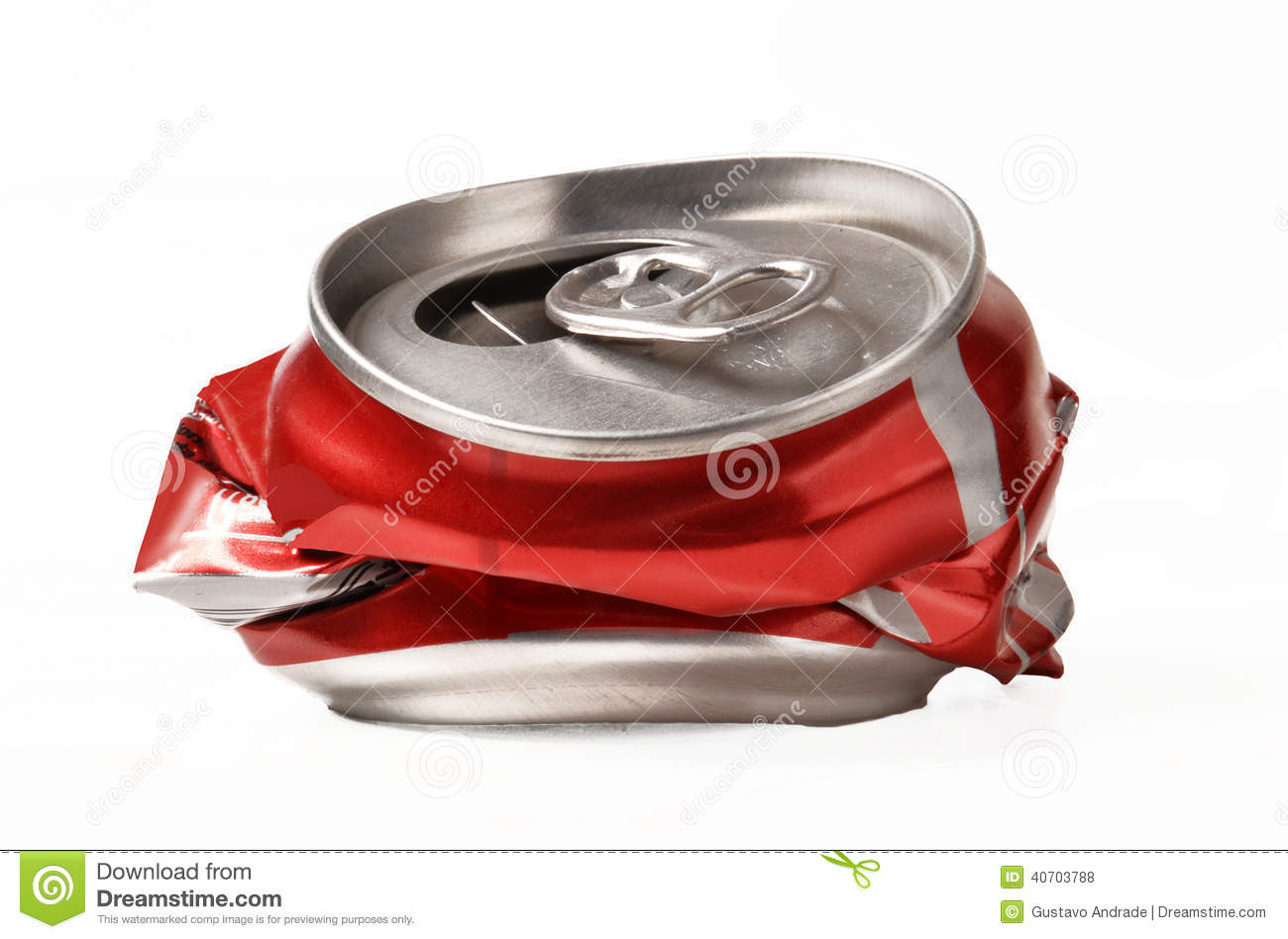 Open red can