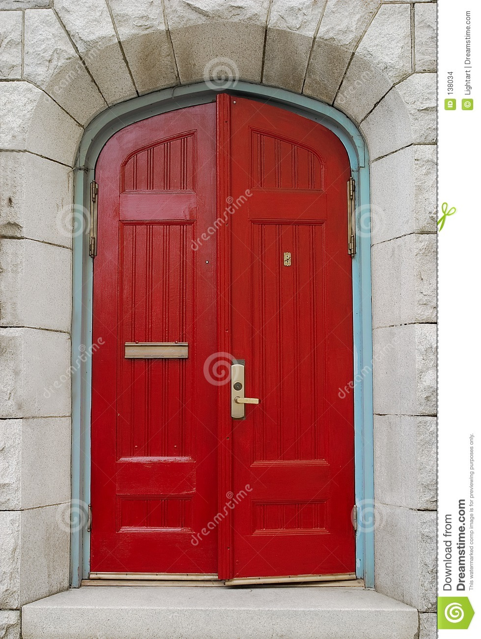 Open Red Church Door Stock Photo Image Of Arch Sacred