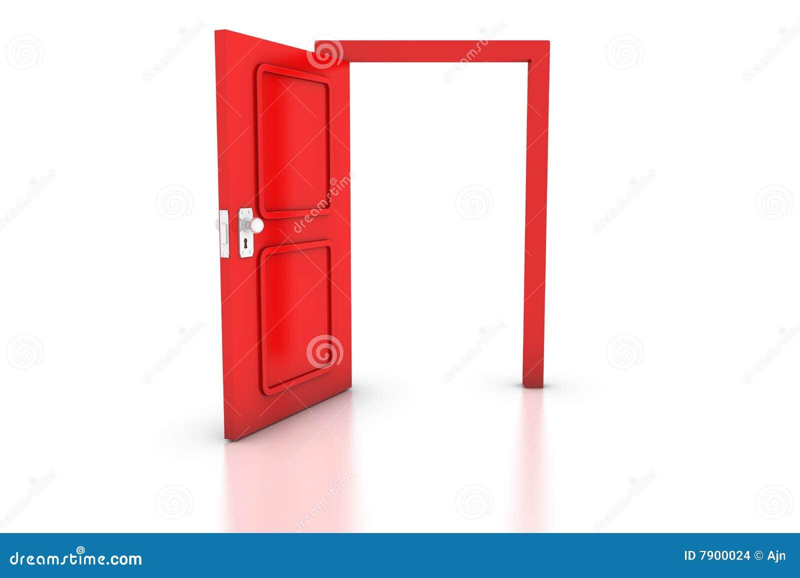Open Red Door Stock Illustration Image Of Home Empty