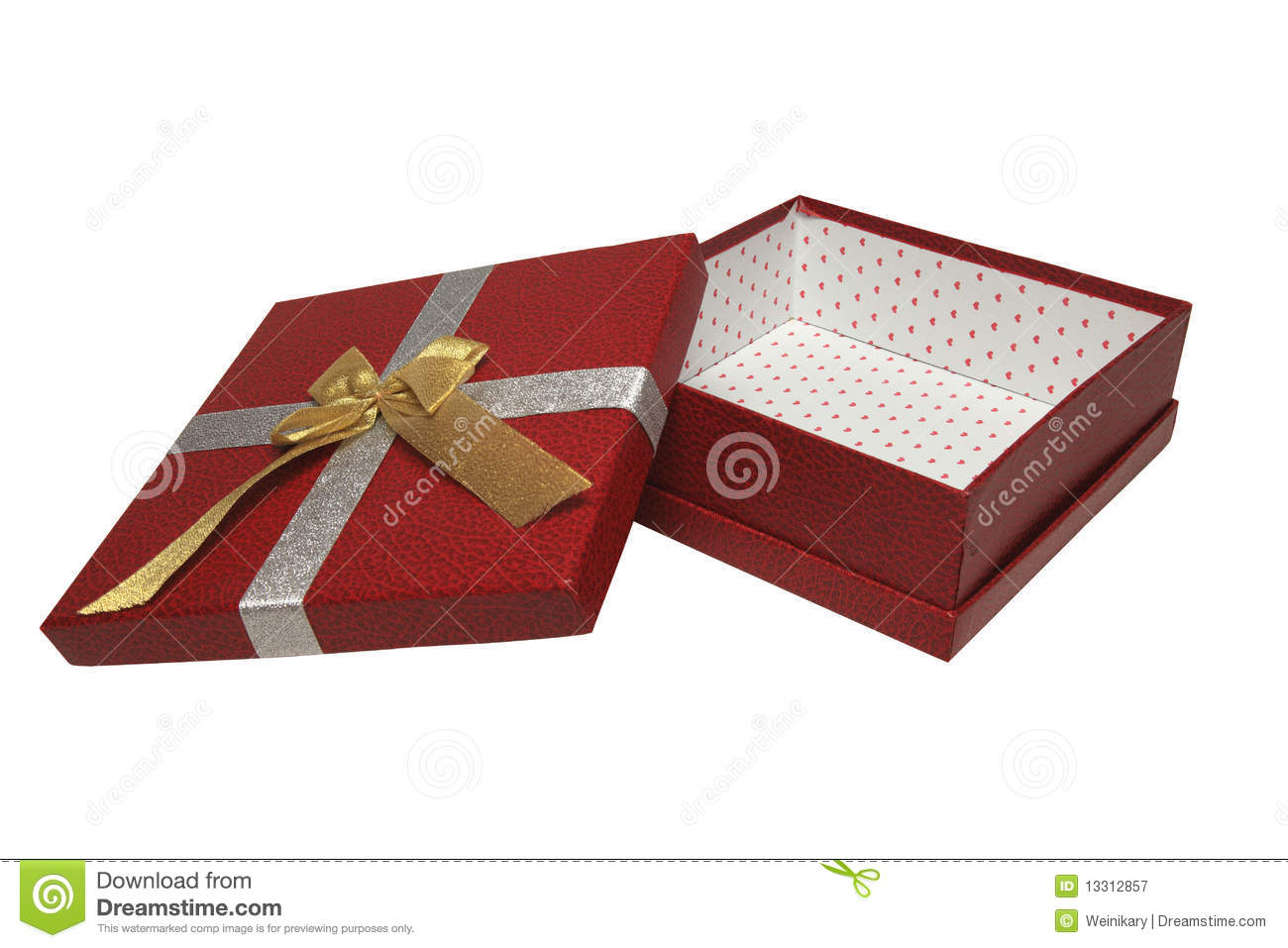 An Open Red Gift Box Royalty Free Stock Photography ...