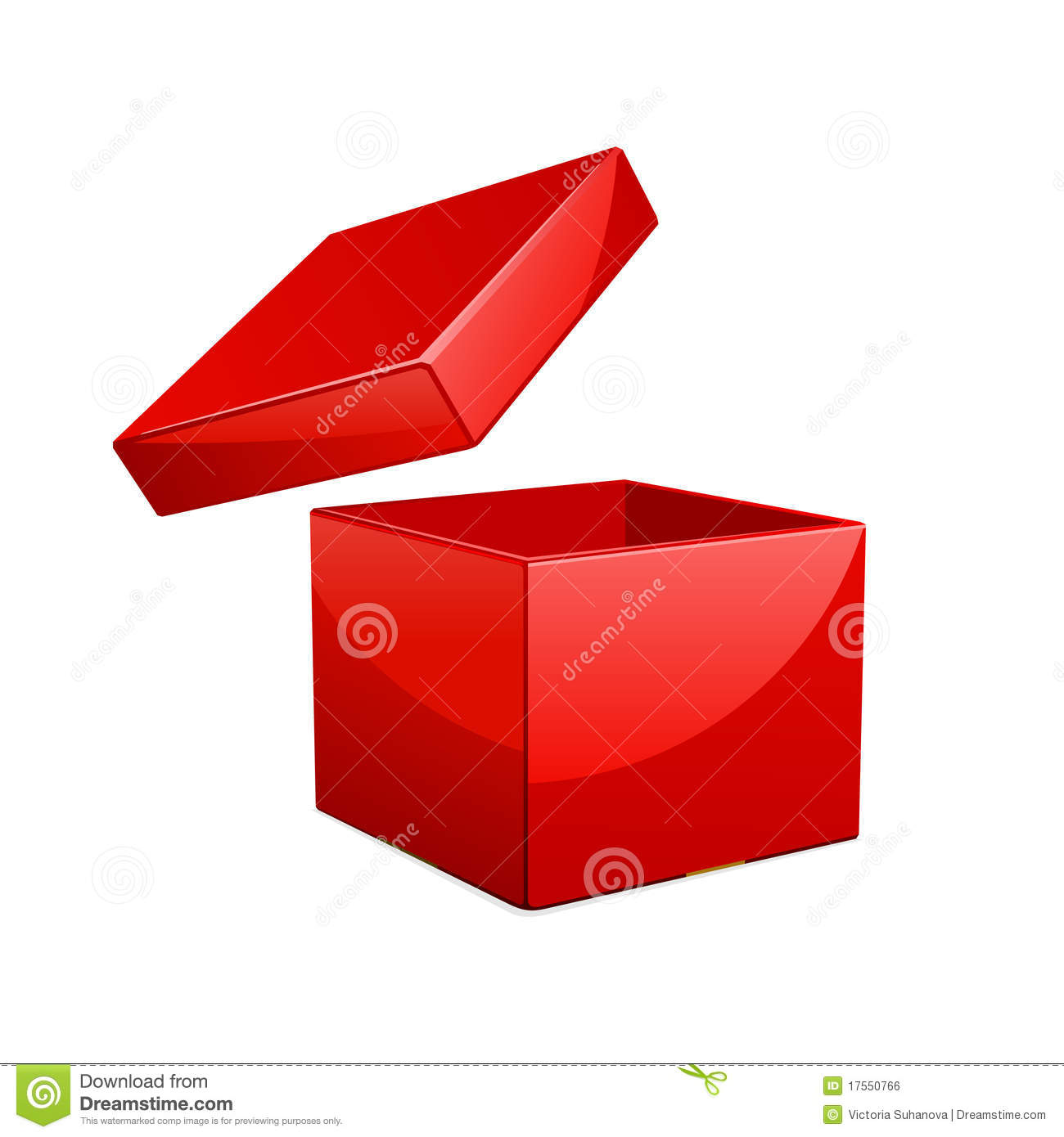 Open Red Gift Box Royalty Free Stock Image - Image: 17550766