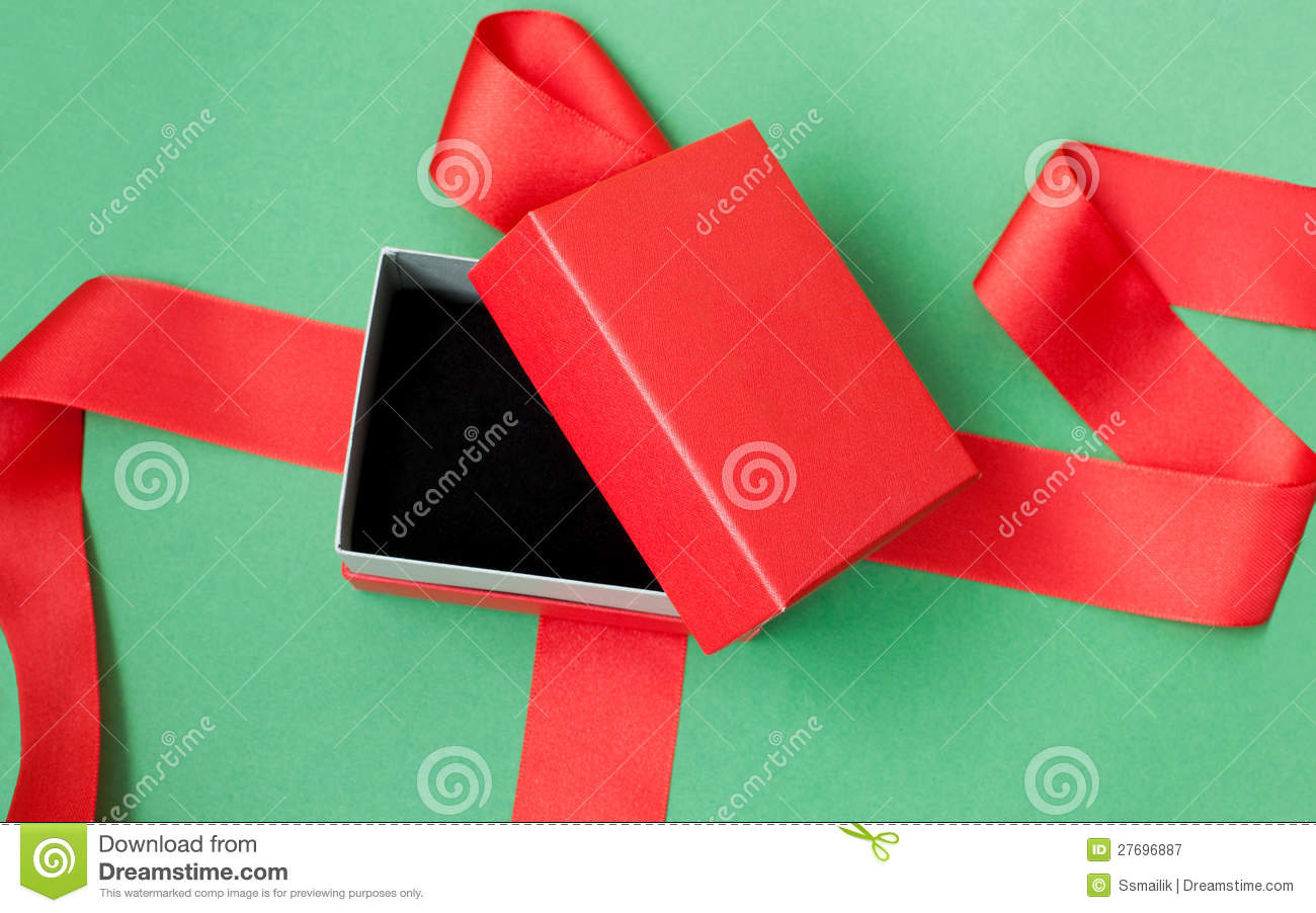 Open Red Gift Box Royalty Free Stock Photography - Image ...