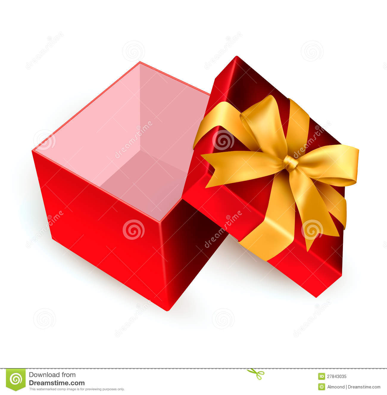 Open Red Gift Box Royalty Free Stock Photo - Image: 27843035
