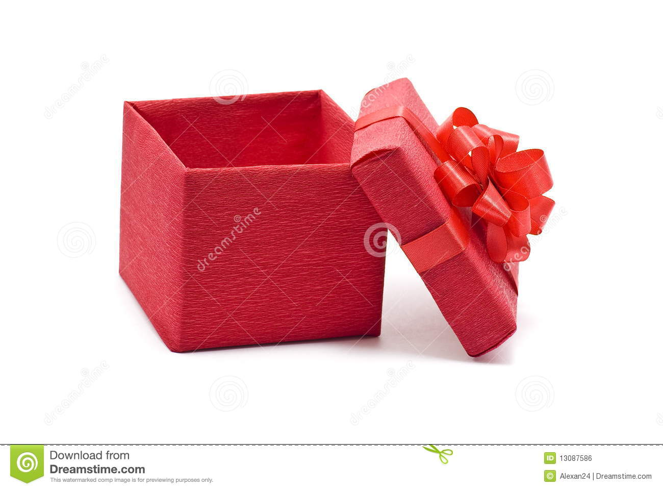 Open Red Gift Box With Bow Royalty Free Stock Image ...
