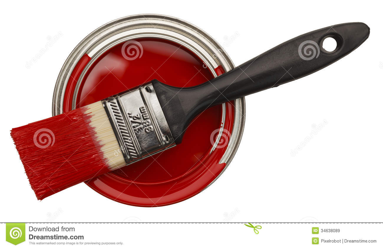 Red Paint open red paint can royalty free stock images - image: 34638089