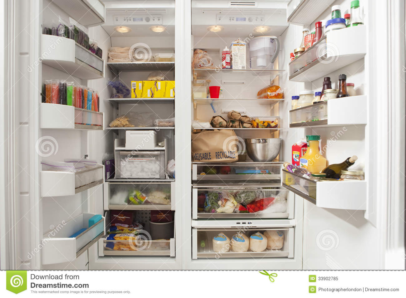 open refrigerator in kitchen. royalty-free stock photo. download open refrigerator in kitchen f