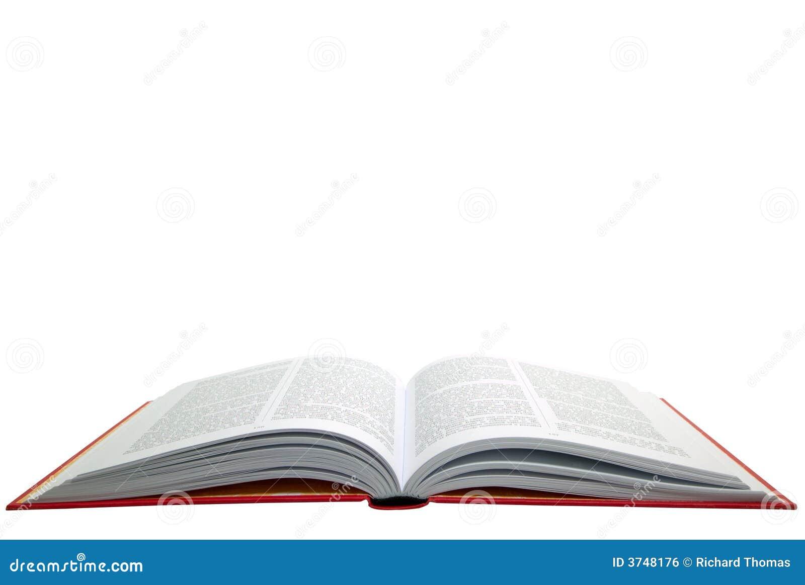 Open rood boek