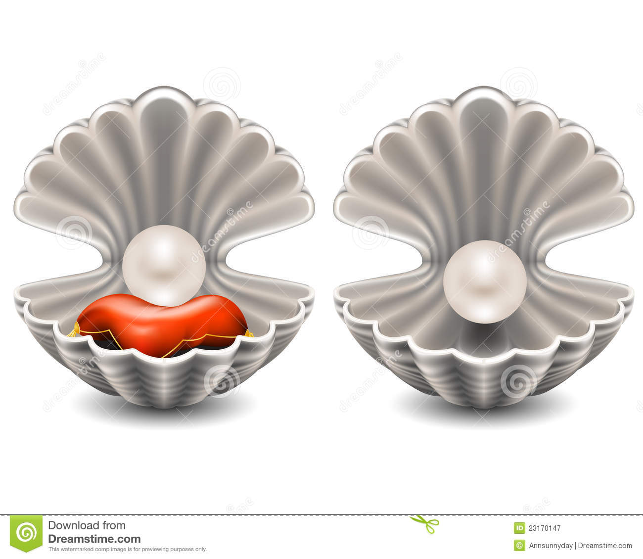 Open Seashell With Pearl Royalty Free Stock Photography ...
