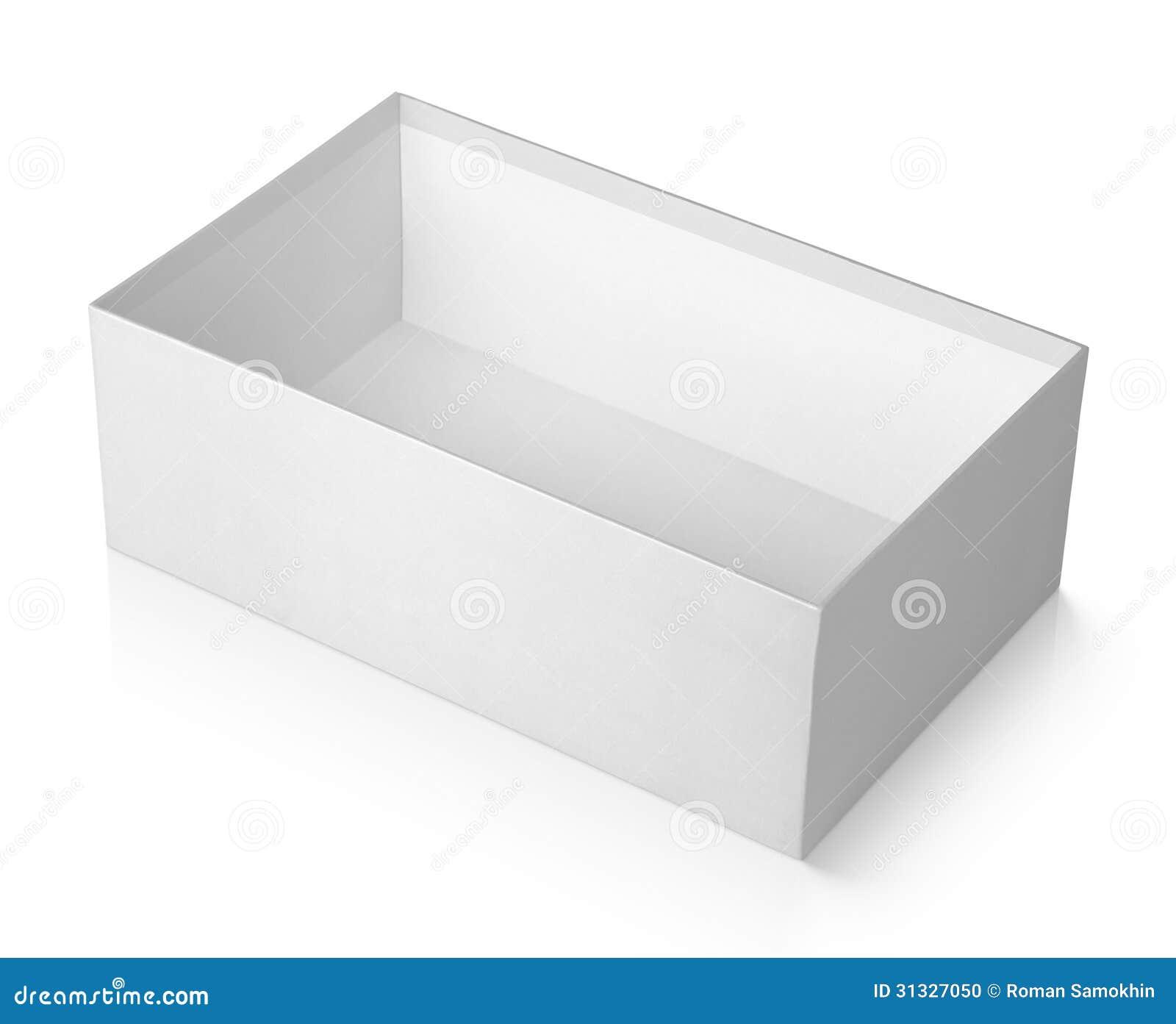 Open Shoe Box Isolated On White Stock Photo - Image: 31327050