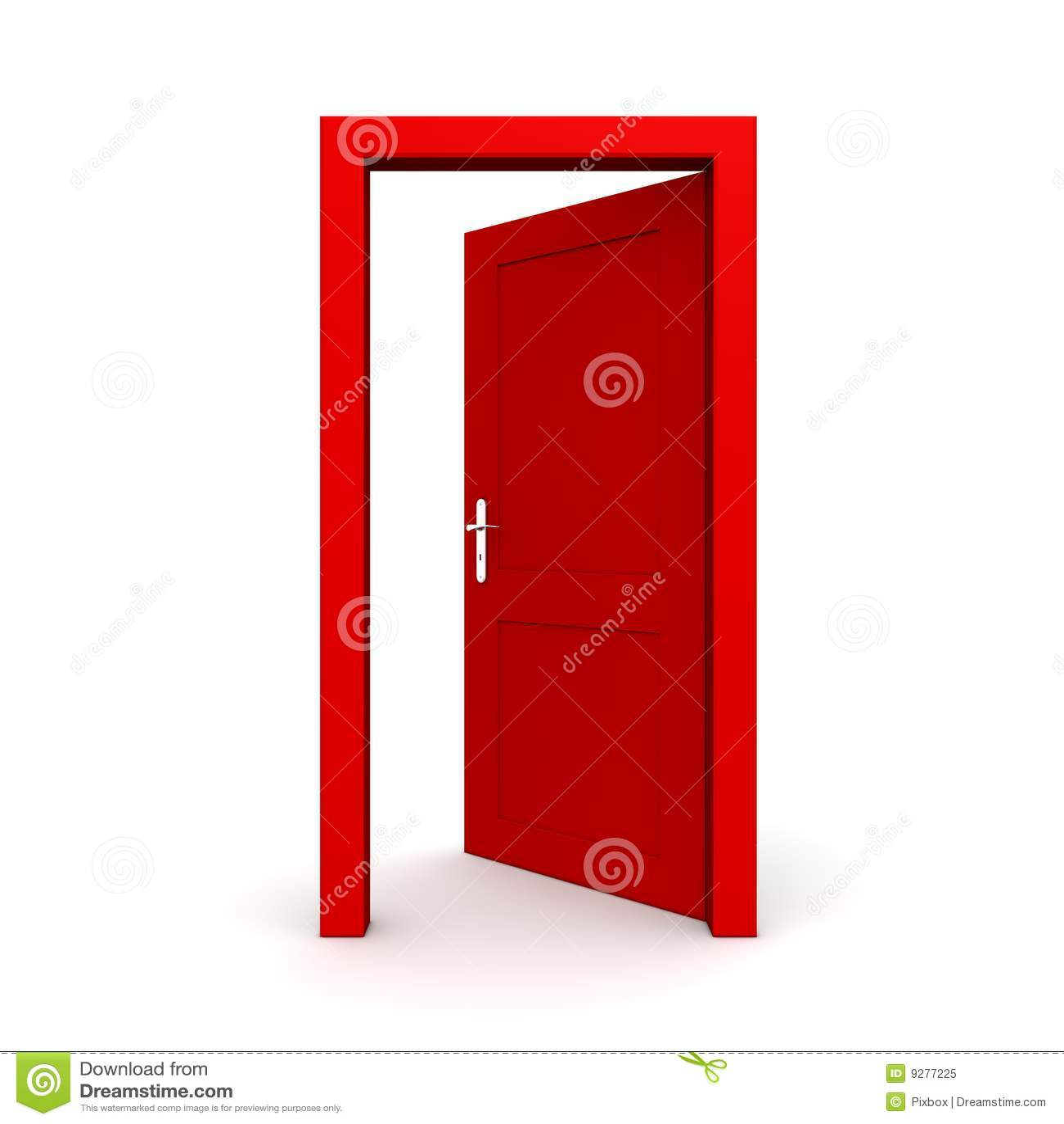 Open Single Red Door Royalty Free Stock Photo Image 9277225