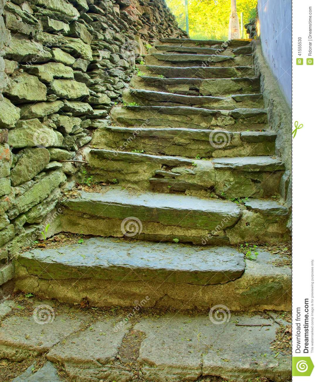 Open small steps at old building old worn out stony steps for Steps to building a house on raw land