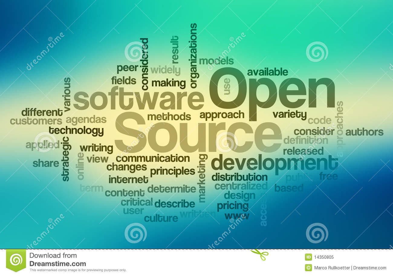 Open Source Software Word Cloud Royalty Free Stock Photo