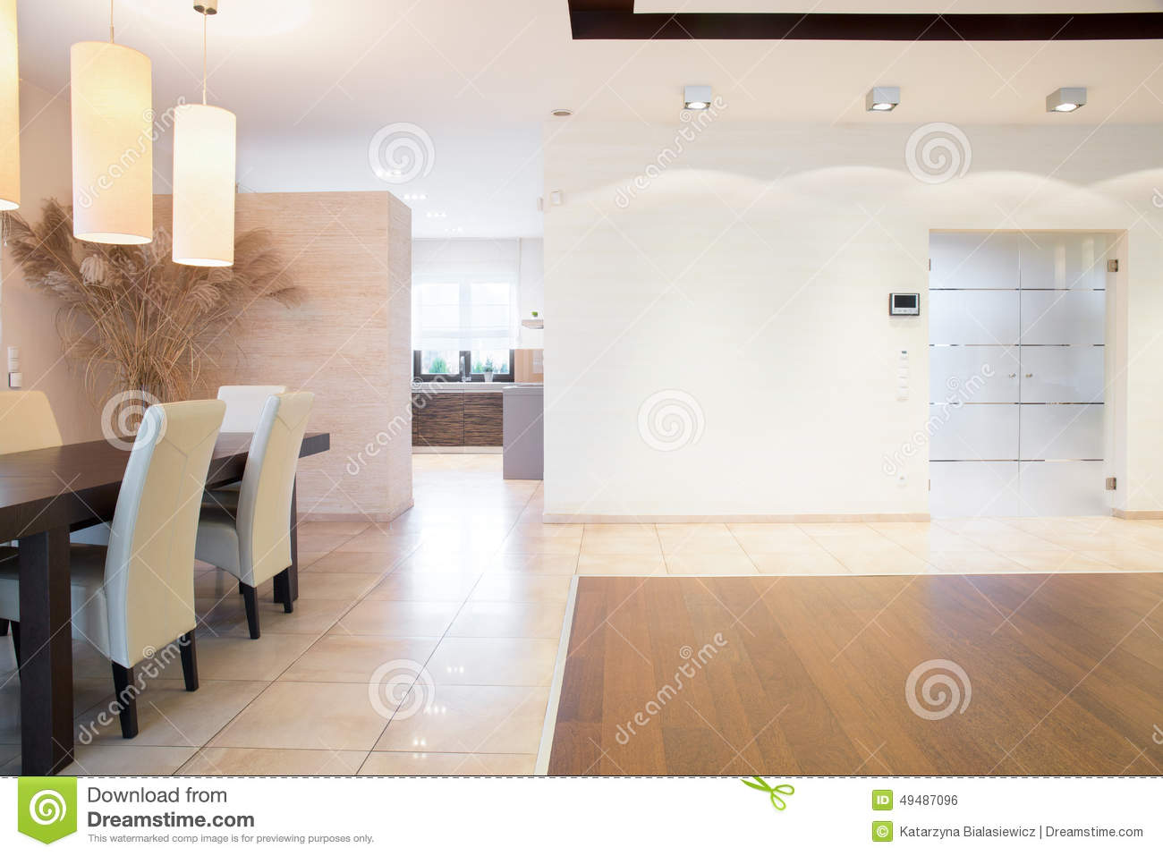 Open space inside bright house stock photo image 49487096 for Open space inside a building