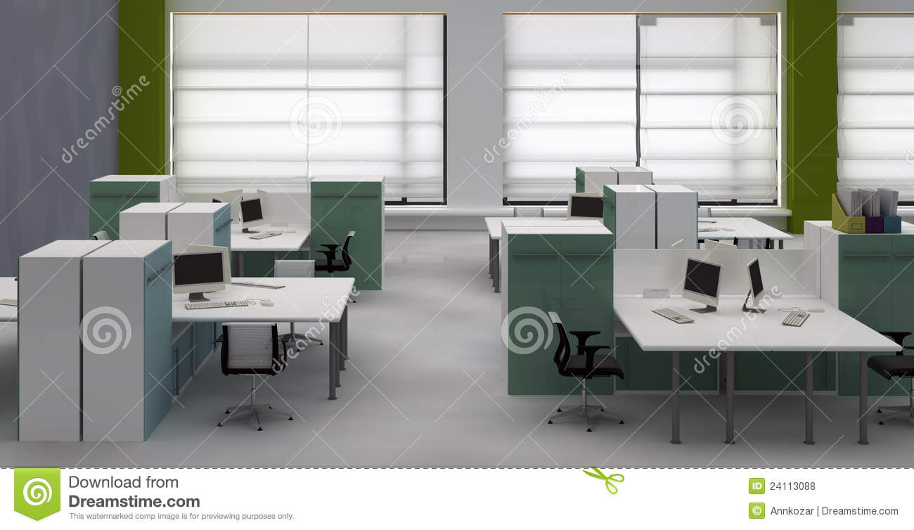 Open space office interior royalty free stock photos for Interior open space