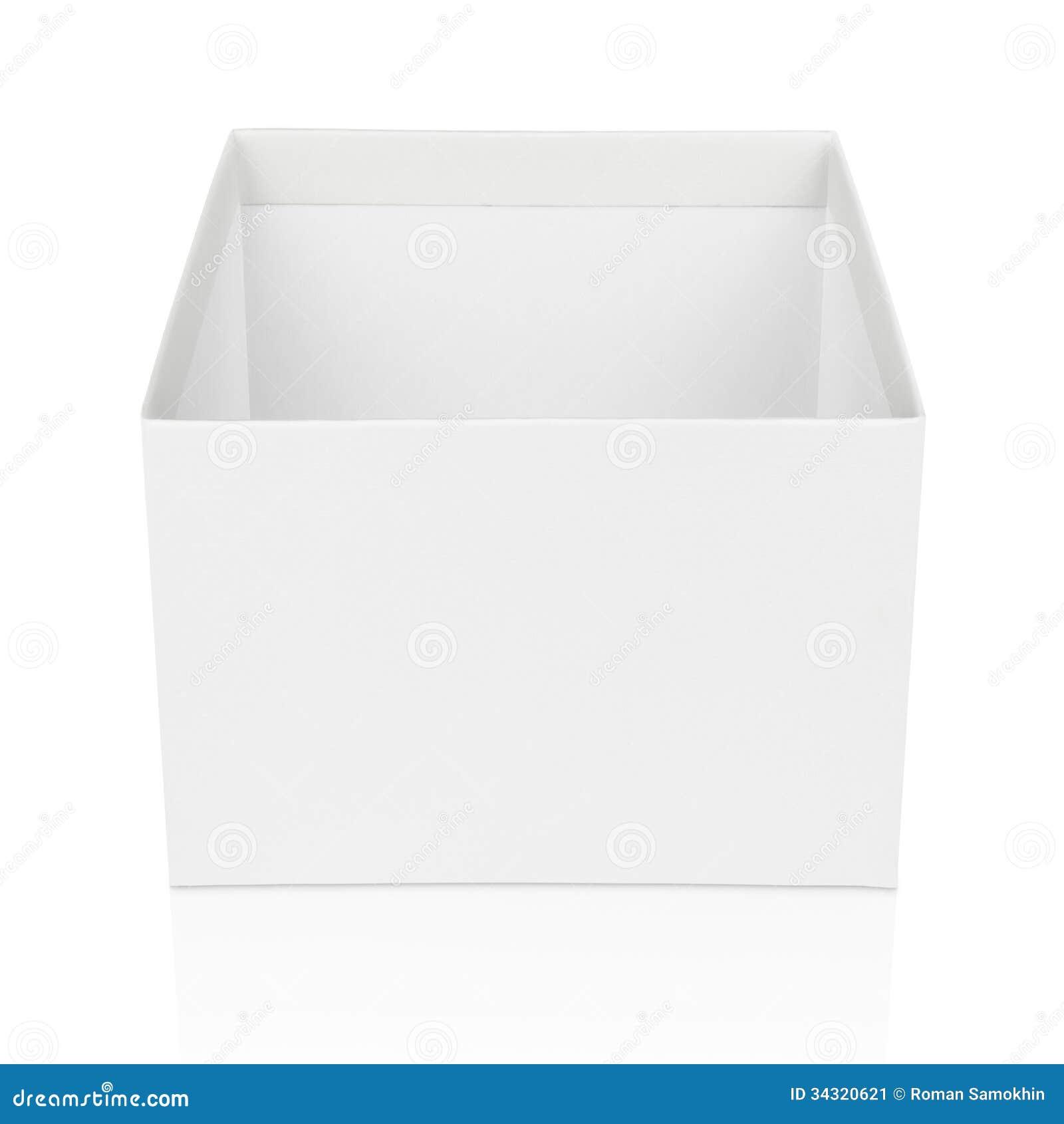 Open Square Box Isolated On White Stock Image - Image ...