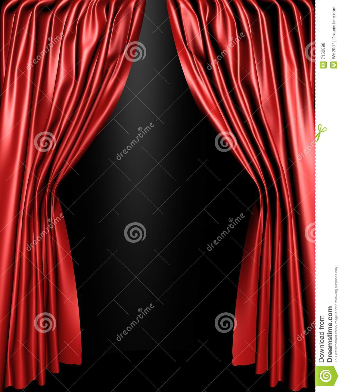 Open stage curtains - Curtain Open Silk Stage